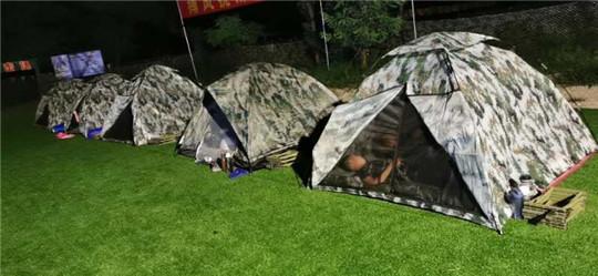 星空放映,野外露营